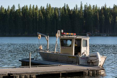 Boat on Placid Lake photo