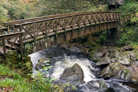 lynmouth: Bridge over the East Lyn River