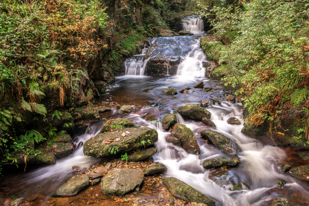 lynmouth: East Lyn River Stock Photo