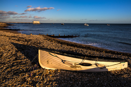 lifeboat station: Evening light at Selsey Bill