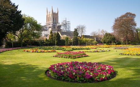 Une vue de Bury St.Edmunds cathédrale en cours de restauration