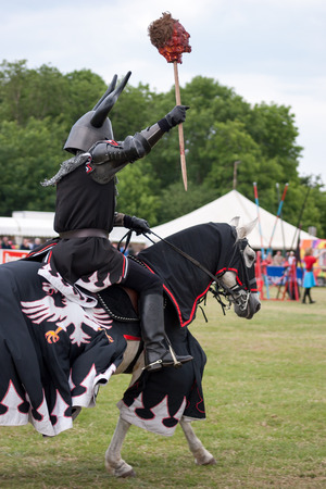 Black knight re-enactment at the Hop Farm Kent photo