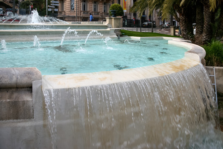 Fountain and pool in Monte Carlo Stock Photo