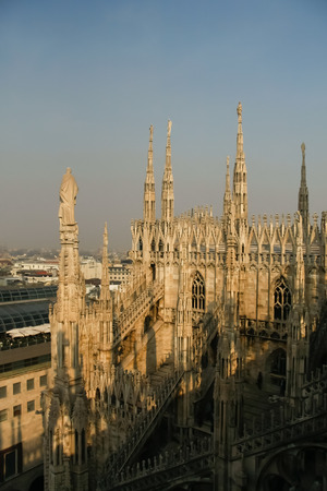 spires: Spires and statues of the Duomo Cathedral