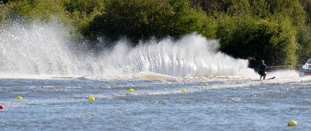 churning: Churning up the water