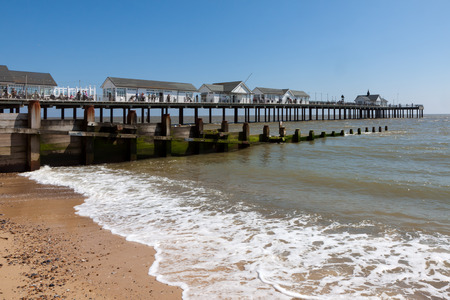southwold: View of the pier at Southwold in Suffolk