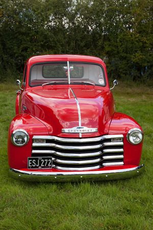 Old red Chevrolet