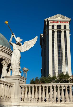 Angel playing bugle outside Caesars Palace