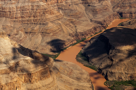 Aerial view of the Grand Canyon and Colorado River photo