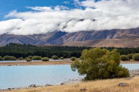 tekapo: Lake Tekapo Stock Photo