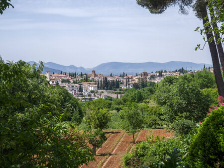 View from the Alhambra Palace gardens