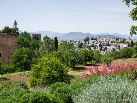 View from the Alhambra Palace gardens photo
