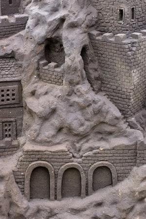 Sand sculpture at Benalmadena Stock Photo