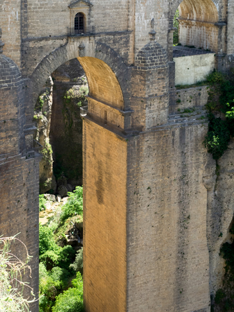 ronda: View of Ronda New Bridge Stock Photo