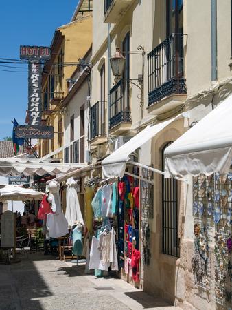 awnings: Street scene in Ronda