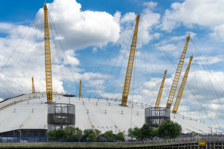o2: View of the O2 building from the River Thames