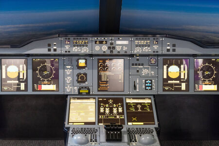 Airbus A-380-800 flight simulator