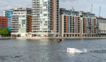 greenwich: Wakeboarding at North Greenwich