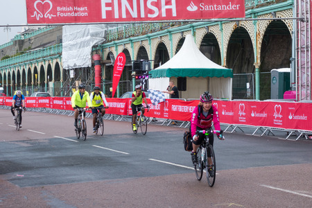 London to Brigton cycle ride to raise money for the British Heart Foundation