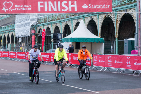 london to brighton: London to Brigton cycle ride to raise money for the British Heart Foundation