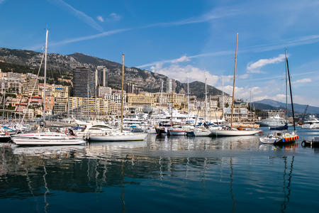 Packed harbour at Monte Carlo Monaco