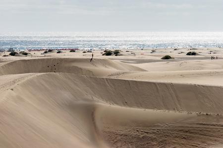 A view of the sand dunes near Maspalomas Gran Canaria photo