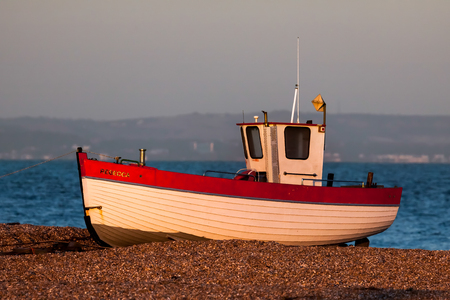 beached: Fishing boat at Dungeness