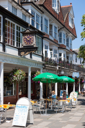wells: A view of the Pantiles shopping centre in Royal Tunbridge Wells Editorial