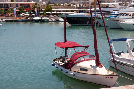 speedboats: Assortment of boats in the harbour at Latchi
