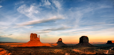 canyonlands: Scenic view of Monument Valley Utah USA