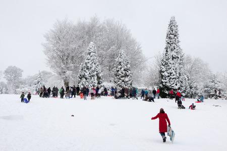 grinstead: Winter scene in East Grinstead Editorial