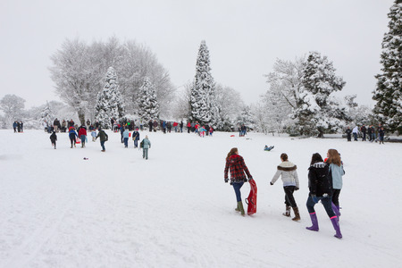 sledging: Slittino a East Grinstead