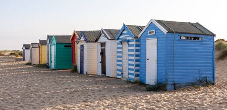 southwold: Colourful beach huts at Southwold