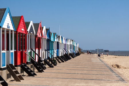 southwold: Colourful Beach huts in Southwold