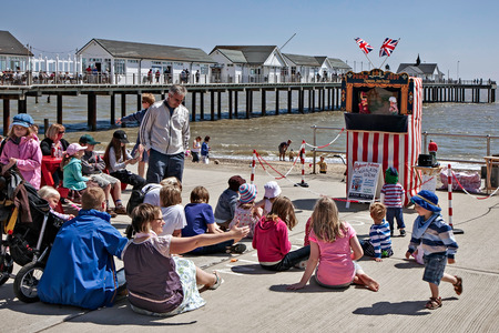 southwold: Punch and Judy show in Southwold Editorial