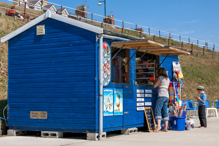 Cafe and gift shop on the promenade at Southwold Suffolk