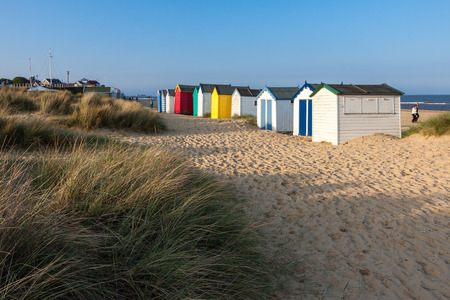 Colourful beach huts at Southwold photo