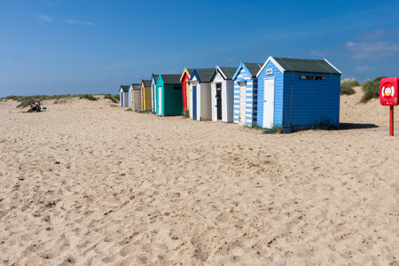 Colourful Beach huts in Southwold