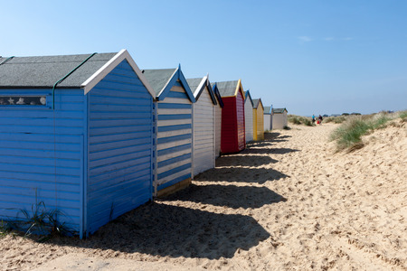 Colourful Beach huts in Southwold photo