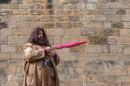 harry: Hagrid entertaining the crowds at Alnwick Castle