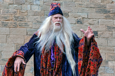 Dumbledore entertaining the crowds at Alnwick Castle Editorial