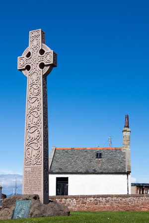 erected: Stone cross erected in memory Catherine Watson of Glasgow in North Berwick