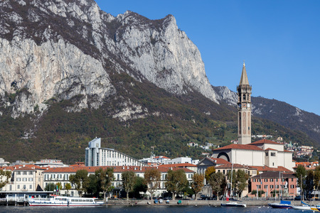 pink cruiser: View of Lecco on the southern shore of Lake Como