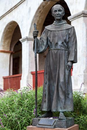 fray: Statue of Fray Junipero Serra in Santa Barbara