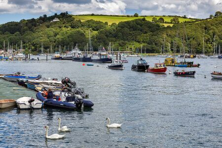 Scenic view up the River Dart