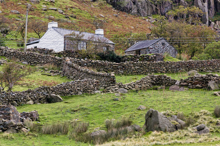 snowdonia: Cottage in Snowdonia National Park Stock Photo