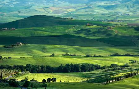 val dorcia: Farmland in Val dOrcia Tuscany