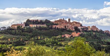san quirico: View of San Quirico in Tuscany Stock Photo