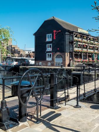 St Katherines Dock in London Stock Photo
