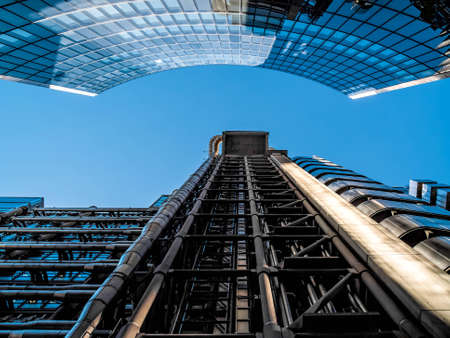 lloyds: Lloyds of London building on a sunny day in London Stock Photo
